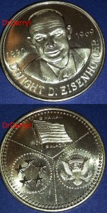 2M-93 Dwight D. Eisenhower medal
