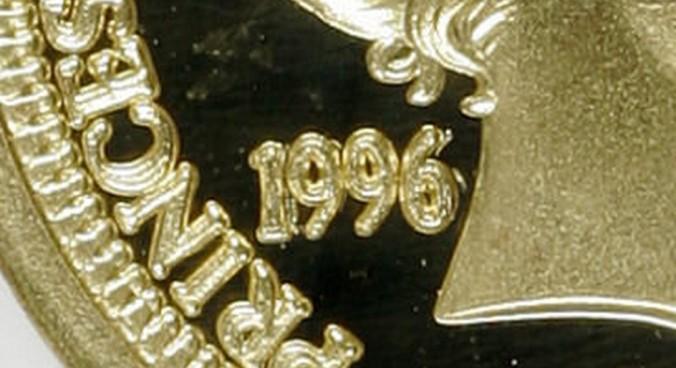 Repunched Date - 1996 Princess Kaiulani Gold Hapaha