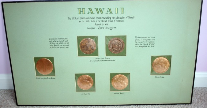 A rare Official Hawaii Statehood Progression set