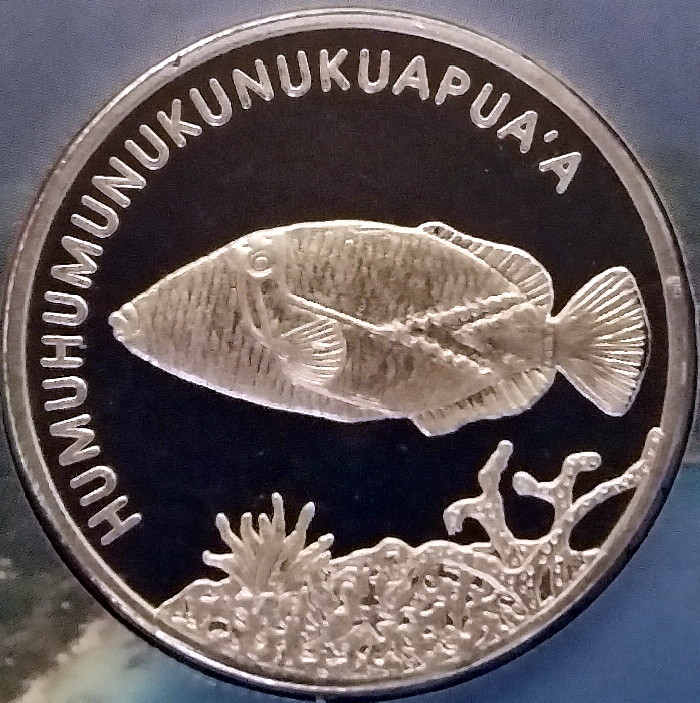 What token or medal do you own with the longest word for Hawaii state fish humuhumunukunukuapua a pronunciation